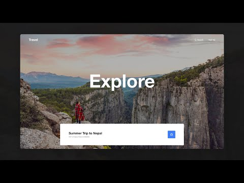 Adobe XD Travel Web Design Parallax Tutorial thumbnail