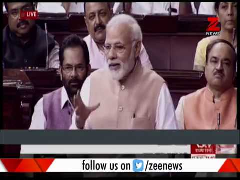Watch: PM Narendra Modi welcomes Venkaiah Naidu in Rajya Sabha