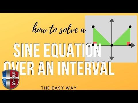 Math Analysis - Trigonometric Equation - Solve over an interval [0,2pi) - sine