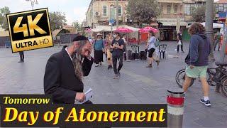 Jerusalem Before Yom Kippur   Day of Atonement   Jerusalem walk 4k60