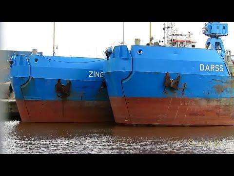 trailing hopper dredgers DARSS DQKT  9124550 ZINGST DQKX 9124562 in Emden dock Klappschute