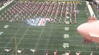 Million Dollar band of the University of Alabama 8/30/2014