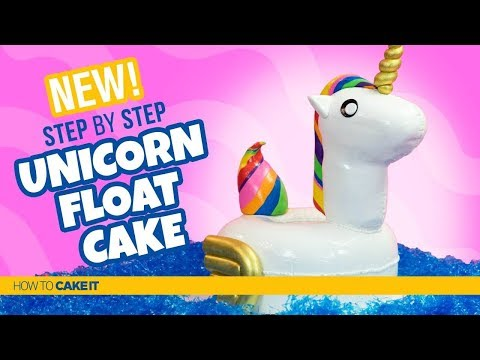 How To Make A Unicorn Pool Float Cake by Asma Qureshi | How To Cake It Step By Step