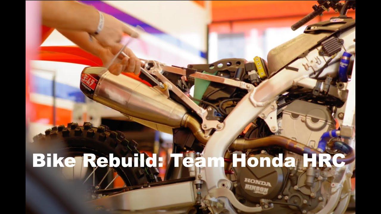 Team Honda USA - Manutenção das motos - VÍDEO