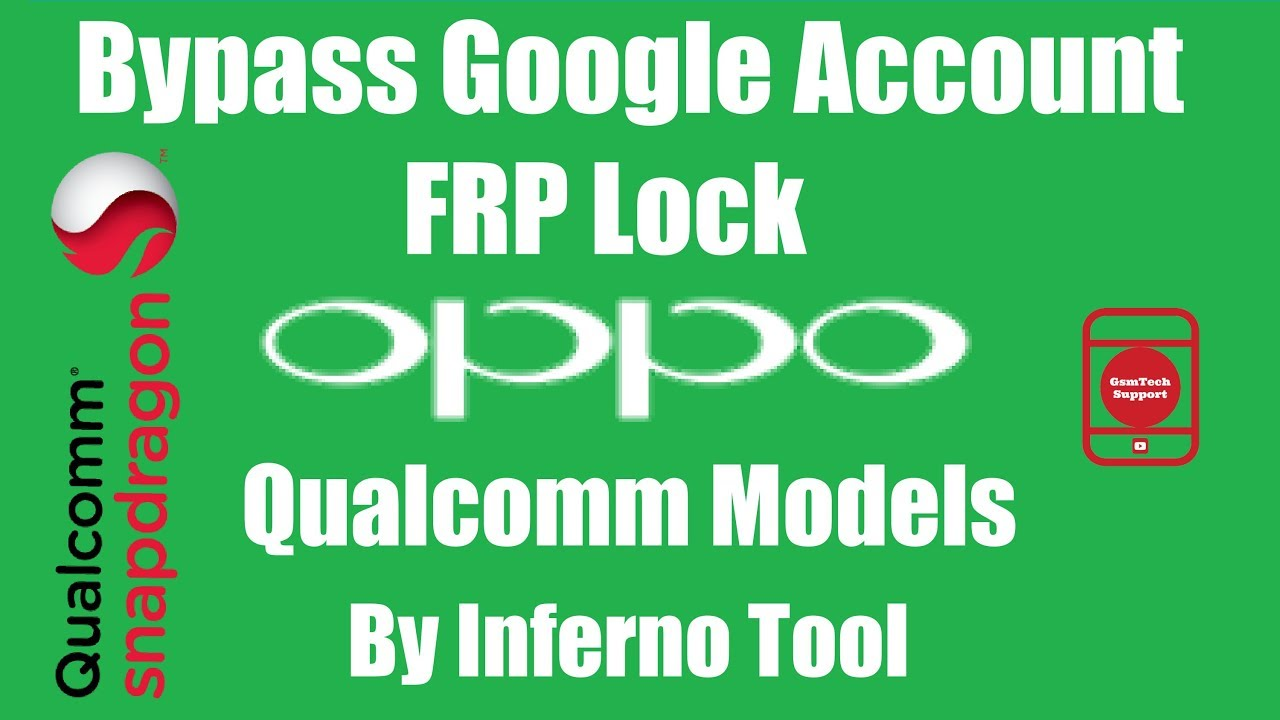 Remove All Oppo Qualcomm Bypass Google Account/FRP By Volcano Inferno Tool