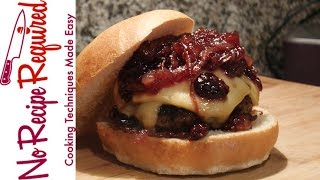 Seattle Seahawks Coffee Cherry Burger - NFL Burgers - NoRecipeRequired.com