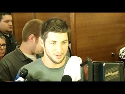 Tebow talks to the media - New York Post