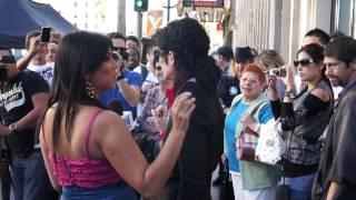 Michael Jackson impersonator on Hollywood Boulevard