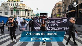 Los integrantes de la comunidad artística teatral a las autoridades la reapertura de las actividades artísticas o se les incluya en presentaciones o actividades culturales gubernamentales