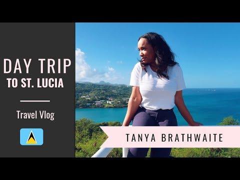 DAY TRIP TO ST. LUCIA   TRAVEL VLOG   TANYA BRATHWAITE