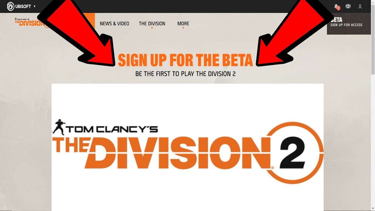 Tom Clancy's The Division 2 BETA FREE Sign Up