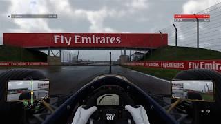 F1 2017 Williams FW14 Silverstone wet