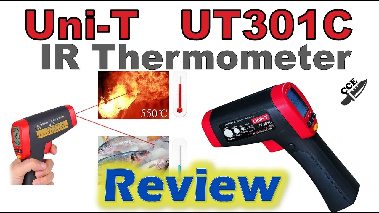 Review of Uni T UT301C IR infrared Thermometer - YouTube 40e6b12556c83