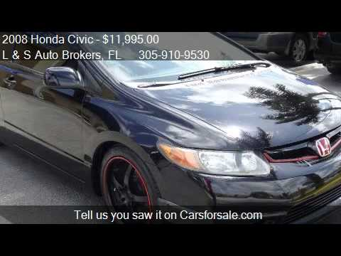 2008 Honda Civic Si Coupe AERO KIT LOW MILES  for sale i  YouTube