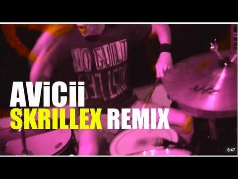 Avicii - LEVELS - SKRILLEX REMIX (DRUM COVER)