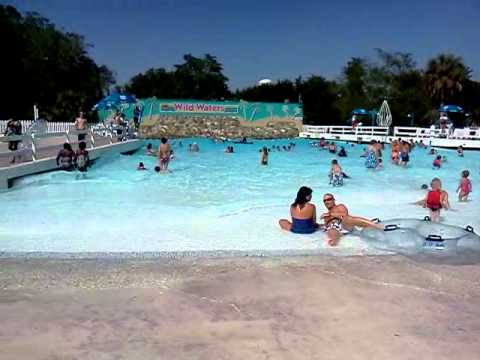 Wave Pool At Wild Waters In Ocal Fl Youtube