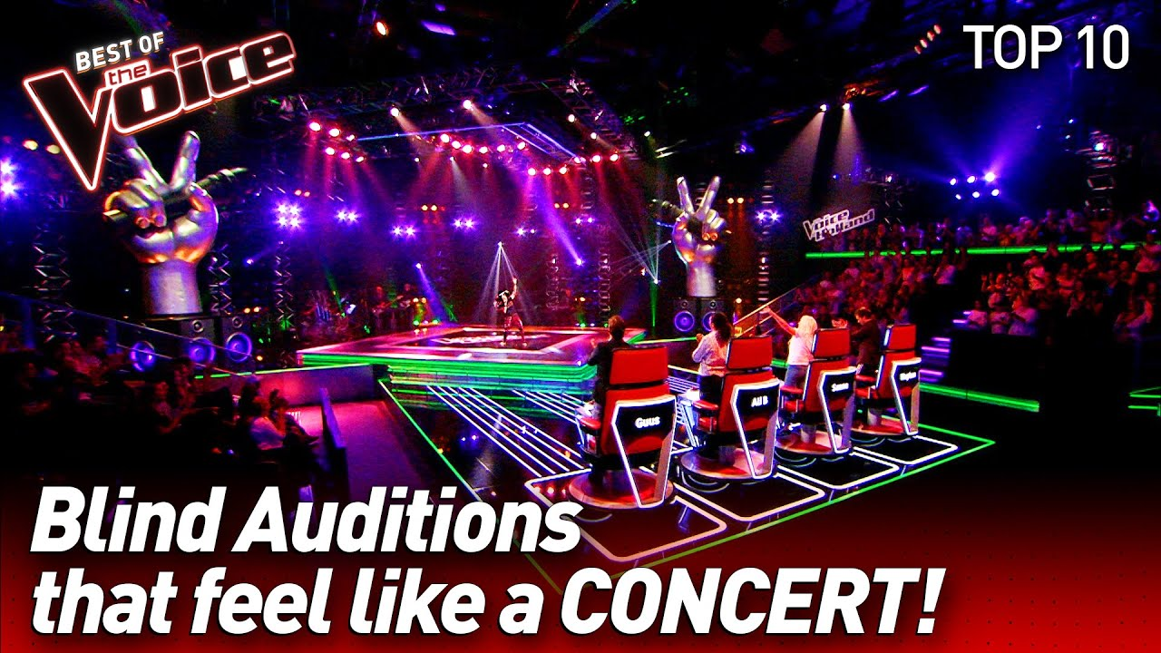 Turning Blind Auditions into CONCERTS on The Voice #3   Top 10