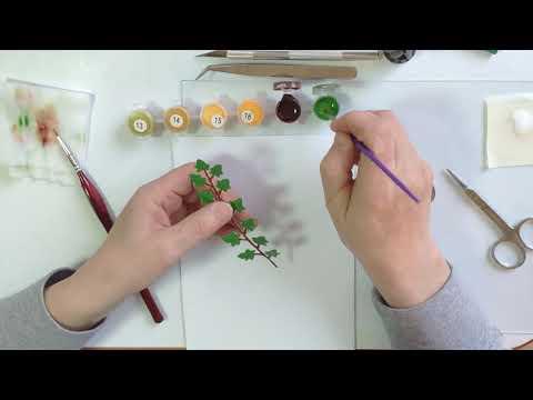 DIY Dollhouse Miniature Paper Potted Plant/Part 1/1:12 Scale/Мини комнатные растения