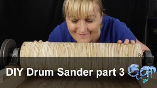 Making a drum or thickness sander, part 3. In this video I get the table flat, I mount and wire up the motor, and I mount the drum.