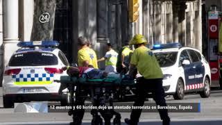 12 muertos y 60 heridos dejó un atentado terrorista en Barcelona, España
