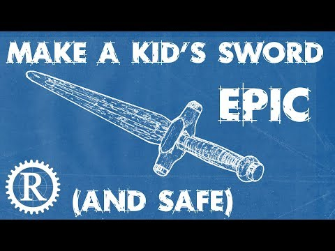 Make a toy sword out of wood