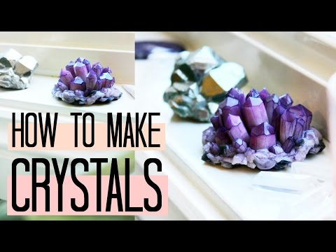 DIY Amethyst Crystals! How to make easy Crystal Clusters at home 🔮 | Natasha Rose (polymer clay)