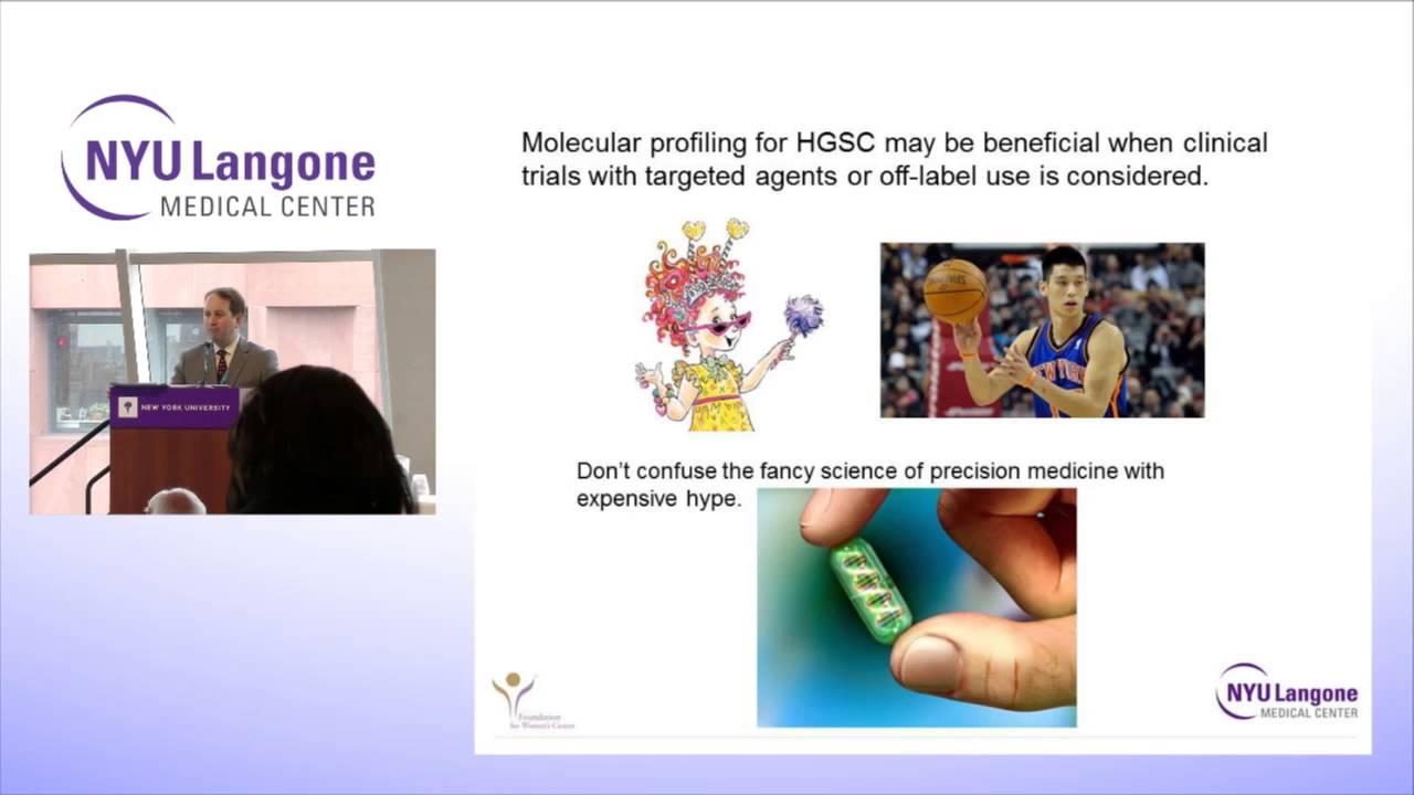 NYU Langone Ovarian Cancer Survivors Course: Precision Medicine