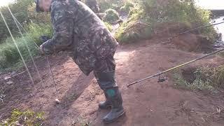 Рыбалка на речке Ендырь 👍Много рыбы
