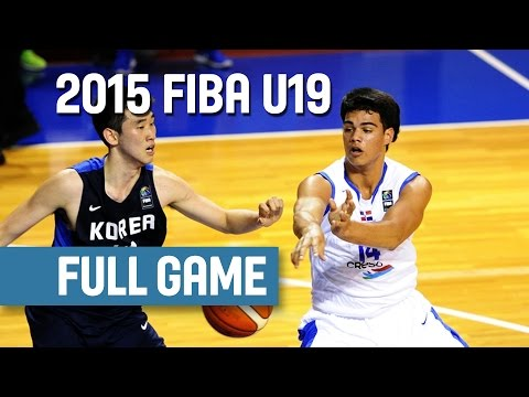 Dominican Republic v Korea - Group D - Full Game - 2015 FIBA U19 World Championship