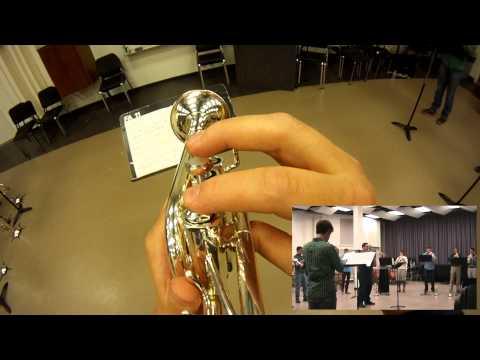 GoPro: Piccolo Trumpet POV - Concerto Saint Marc (Tomaso Albinoni) Trumpet Ensemble