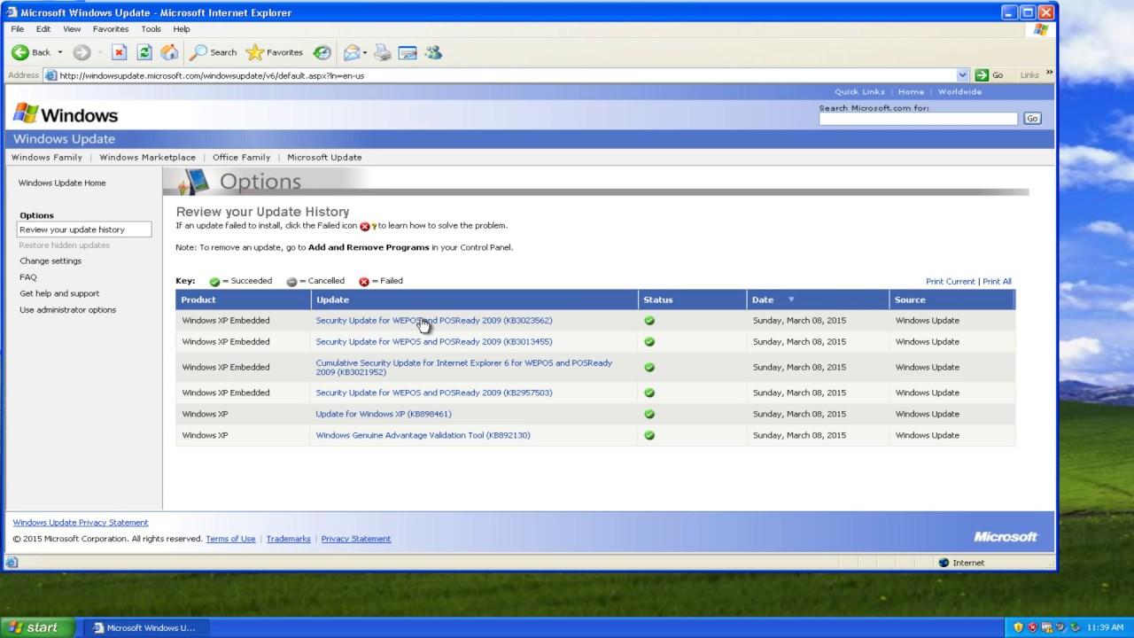 Kostenlos updates windows xp