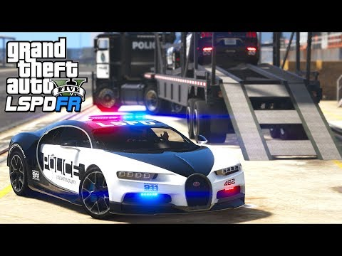 GTA 5 - LSPDFR Ep418 - Delivering Police Exotic Supercars (Let's Go Work)!!