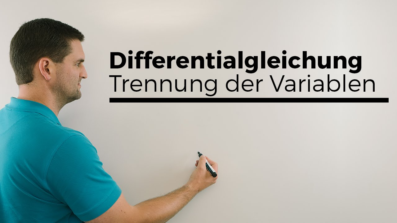 Download Differentialgleichung, Trennung der Variablen, Analysis | Mathe by Daniel Jung