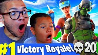 OMG *NEW* SKIN IS UNSTOPPABLE!!! LITTLE KID PLAYS COMPETITIVE! FORTNITE BATTLE ROYALE FUNNY MOMENTS