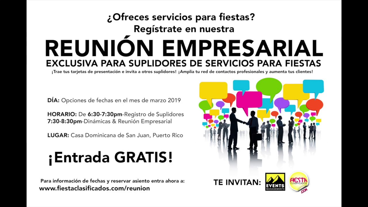 Invitacion Reunion Empresarial De Fiesta Clasificados En