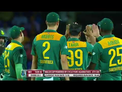 Imran Tahir 7 wickets vs west indies