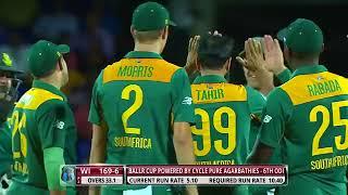 Imran Tahir 7 wickets vs west indies