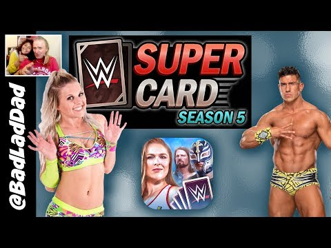 WWE SuperCard Season 5 With Gothic, Neon and Shattered Tiers