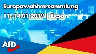 Europawahlversammlung in Riesa (11.-14.01.2019)