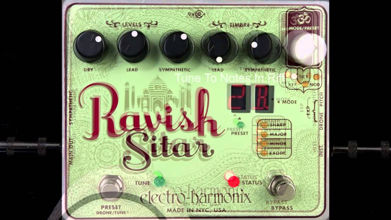 electro harmonix ravish sitar guitar pedal youtube. Black Bedroom Furniture Sets. Home Design Ideas