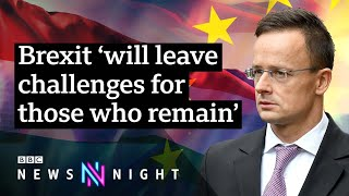 Hungarian Foreign Minister on Brexit and Boris Johnson's plan - BBC Newsnight