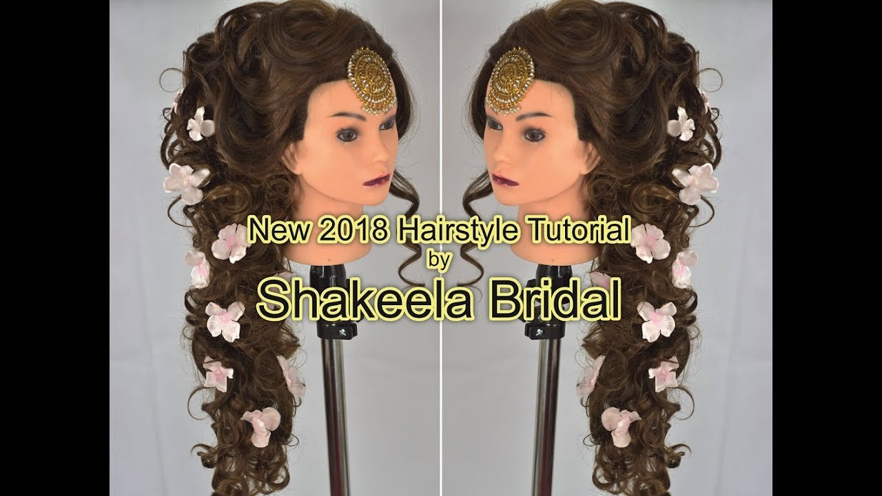 amazing new bridal hairstyle 2018 by shakeelabridal