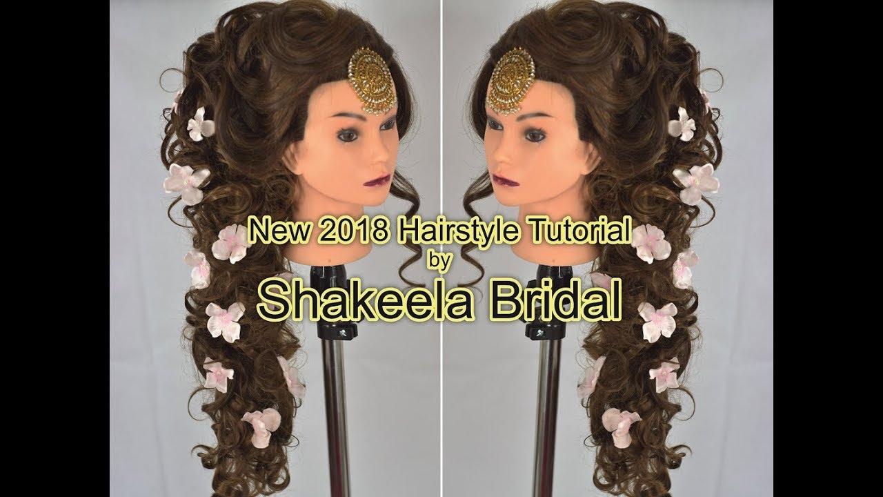 amazing new bridal hairstyle 2018 by shakeelabridal - youtube