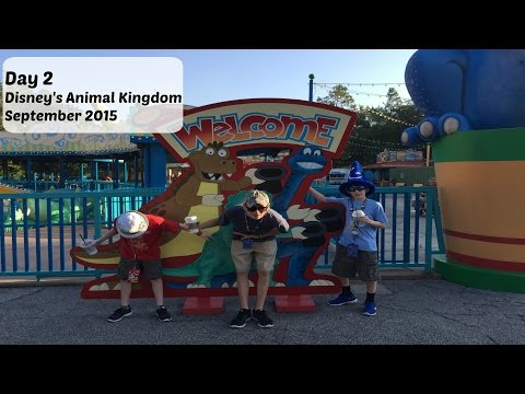 Day 2: Animal Kingdom & Downtown Disney - Disney World September 2015