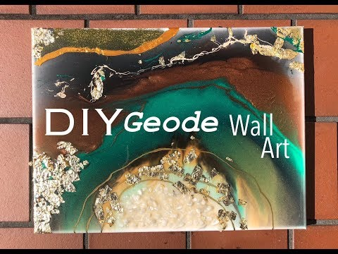 DIY ACRYLIC RESIN GEODE WALL ART *with GOLD LEAF*