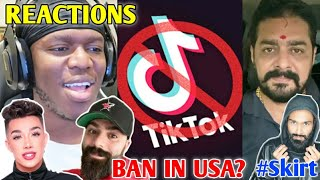 Tik Tok BAN In USA? - YouTubers Reaction | YouTube Vs Tik Tok 2.0?, Hindustani Bhau, Amir Siddiqui |