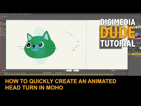 How To Quickly Create An Animated Head Turn In MOHO