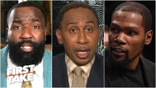 Stephen A. weighs in on Kendrick Perkins' response to Kevin Durant | First Take