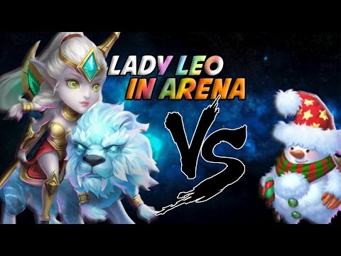Castle Clash Lady Leo VS Snowzilla (Arena Gameplay)