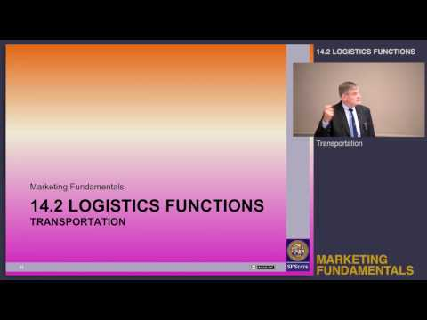 Topic 14.2 Logistics functions - Transportation